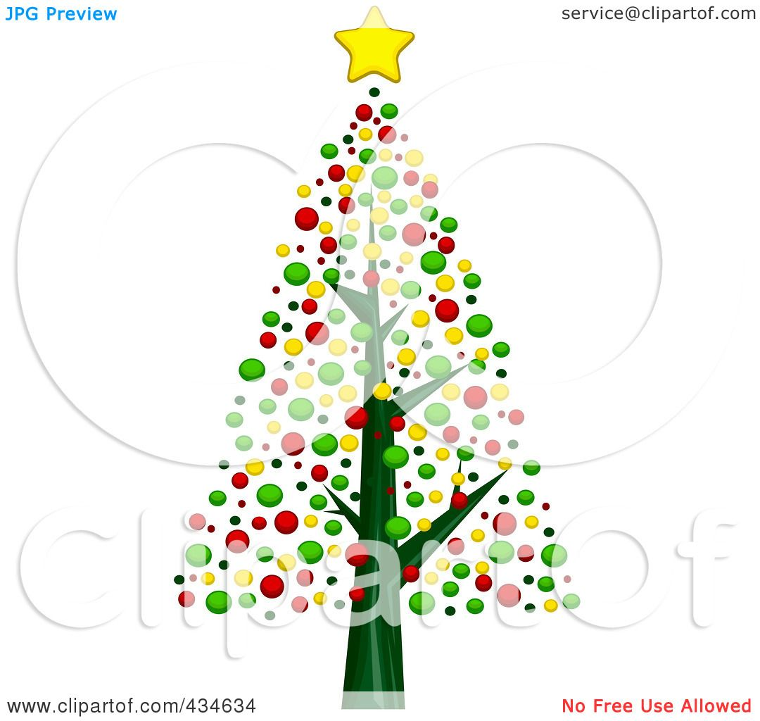 Bare Christmas Tree Clipart.Royalty Free Rf Clipart Illustration Of A Bare Christmas