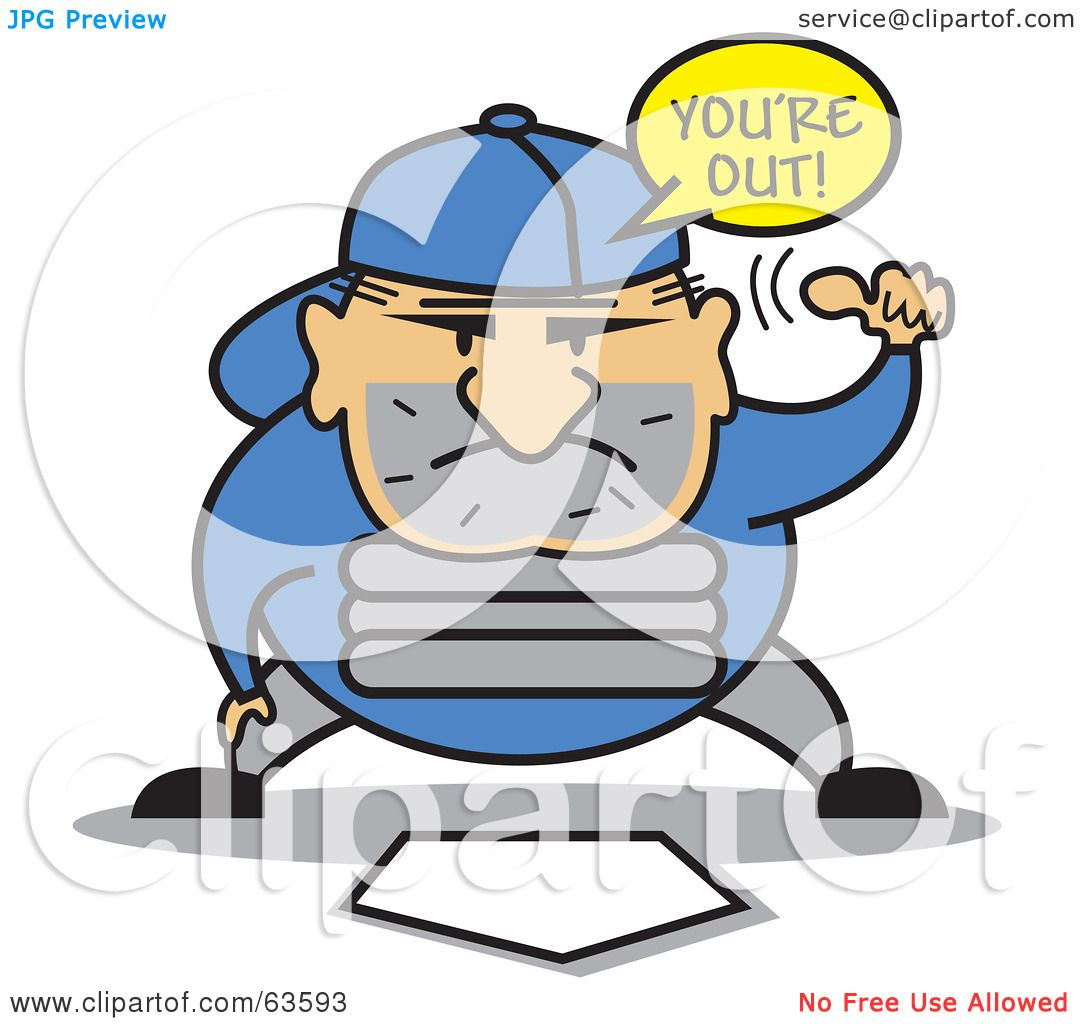 Royalty-Free (RF) Clipart Illustration of a Baseball ...