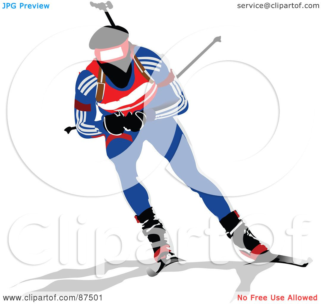 Olympic Skier Clipart For - skier clipart.