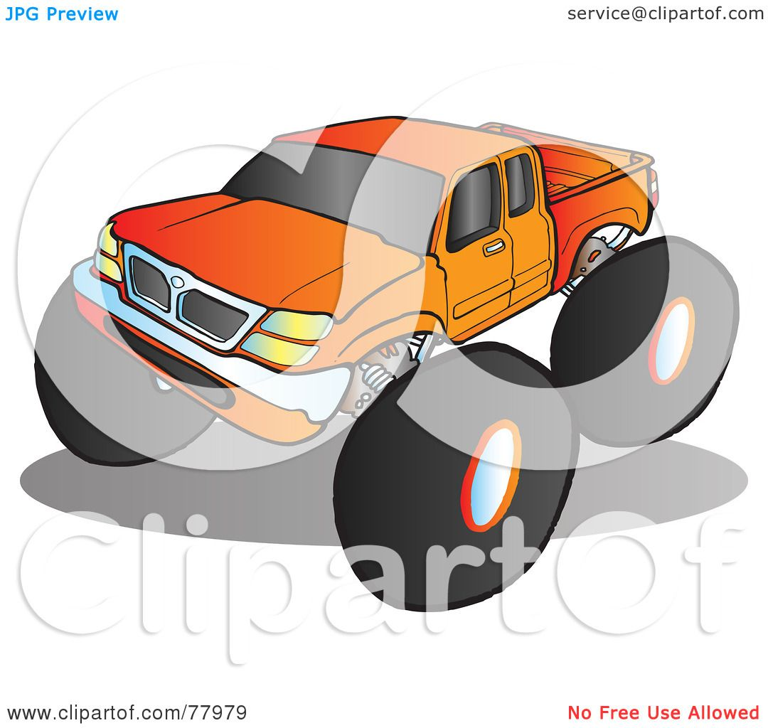 Royalty Free Rf Clipart Illustration Of A Big Orange