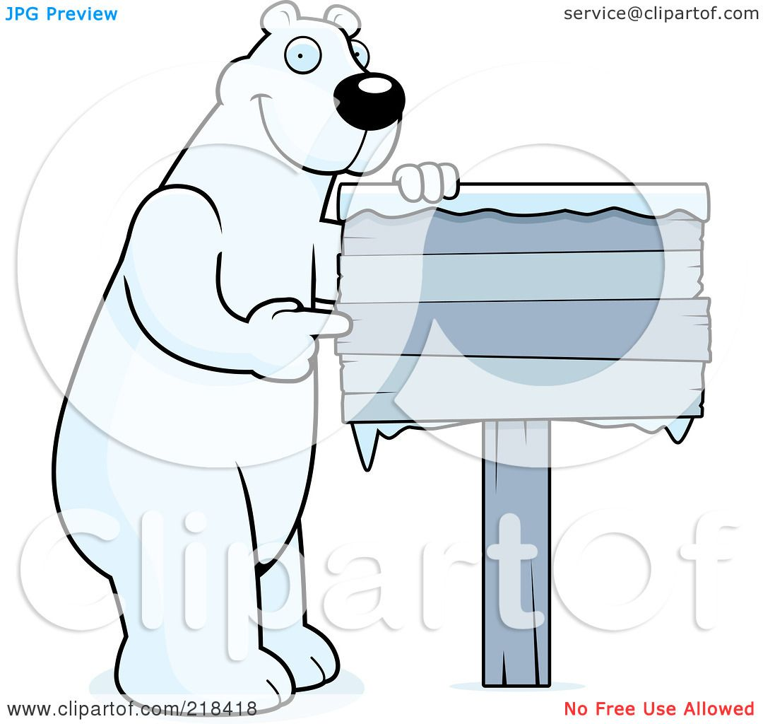 Royalty Free Rf Clipart Illustration Of A Big Polar Bear