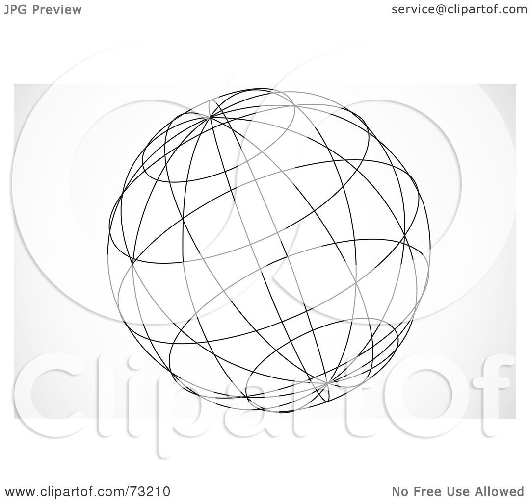 Royalty-Free (RF) Clipart Illustration of a Black And White 3d Wire ...