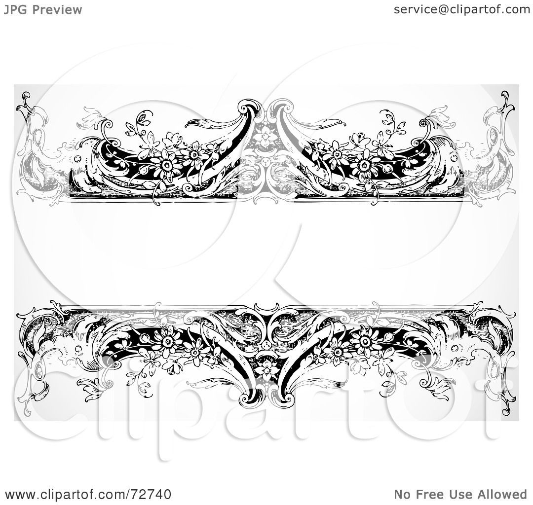 Royalty-Free (RF) Clipart Illustration of a Black And ...  Royalty-Free (R...