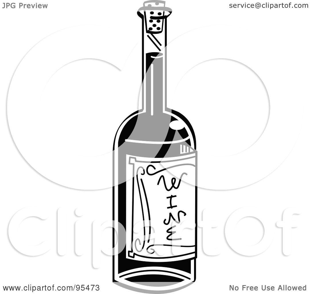White Wine Bottle Clipart