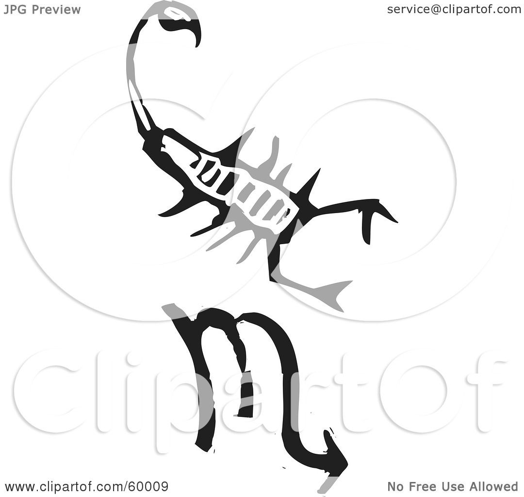 Royalty free rf clipart illustration of a black and white carved royalty free rf clipart illustration of a black and white carved scorpio and zodiac symbol by xunantunich biocorpaavc Gallery