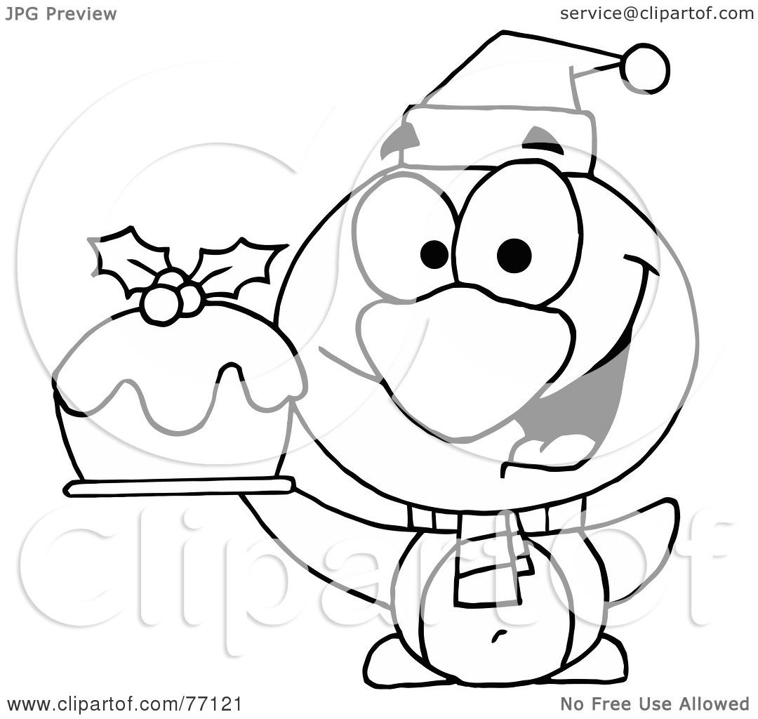 royalty free christmas coloring pages   Royalty-Free (RF) Clipart Illustration of a Black And ...