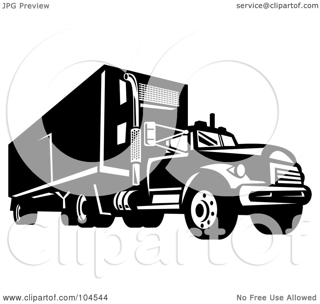 Royalty-Free Rf Clipart Illustration Of A Black And -2300