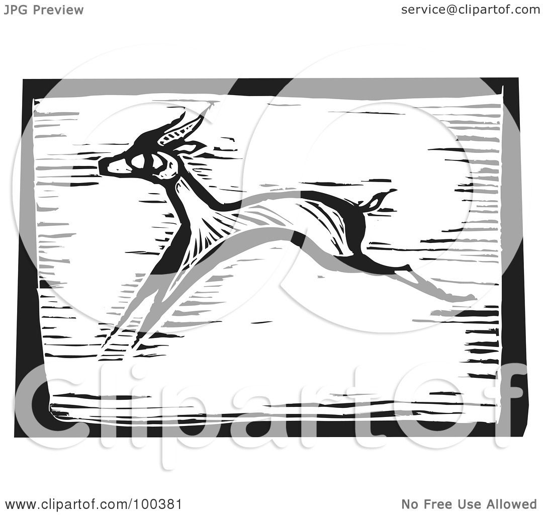 Antelope Running Drawing