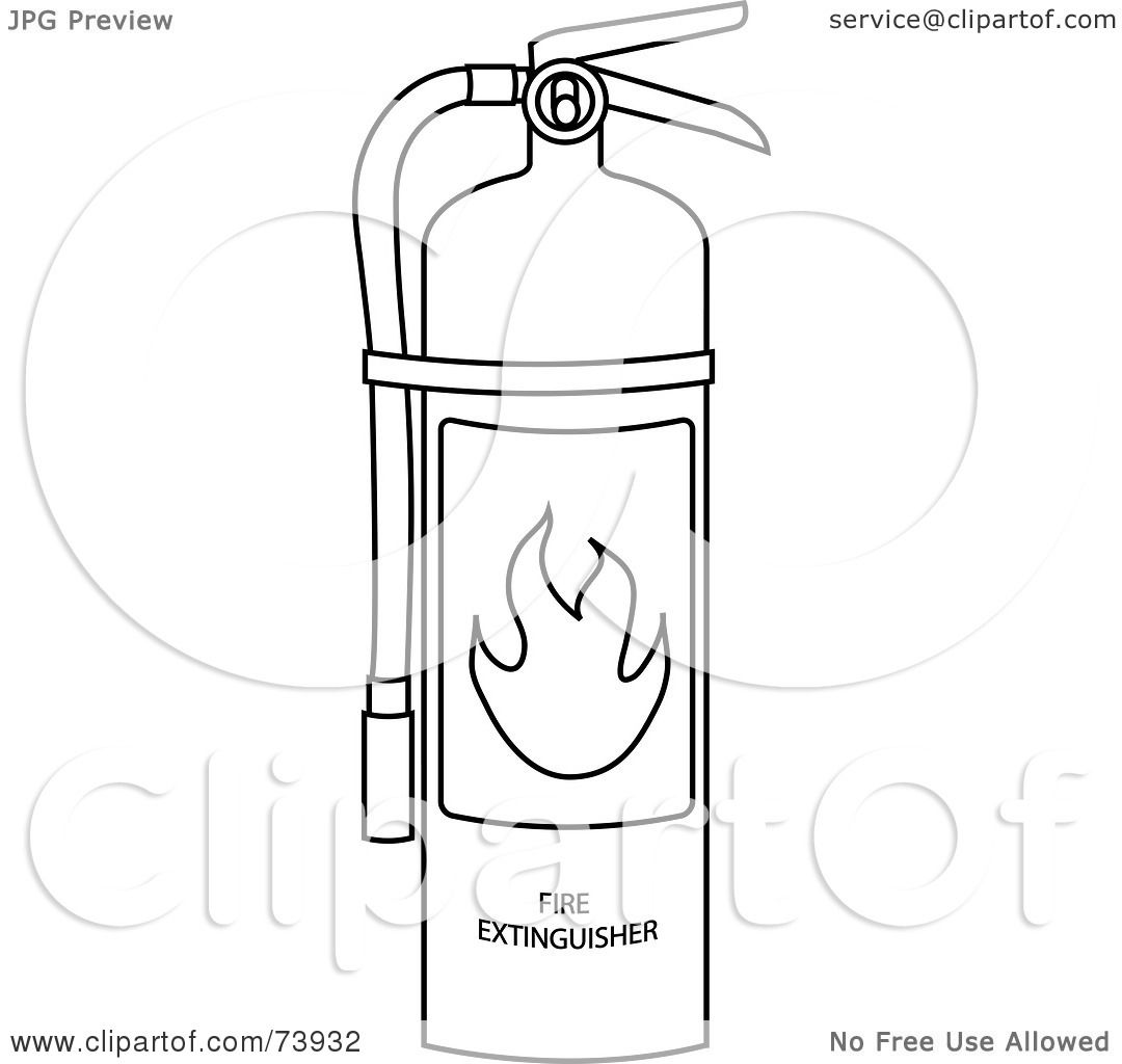 Fire extinguisher coloring pages