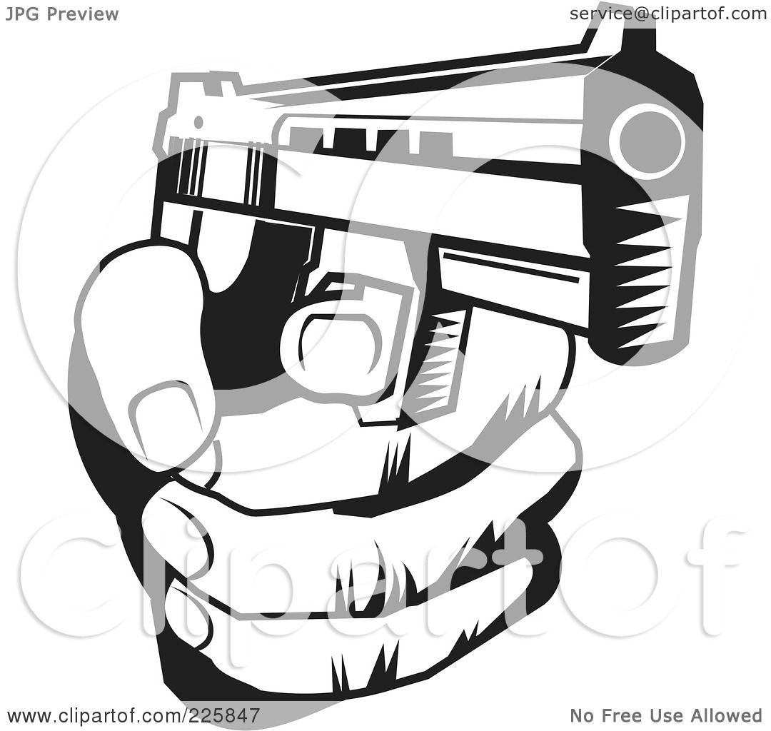 Royalty-Free (RF) Clipart Illustration of a Black And White Hand ...