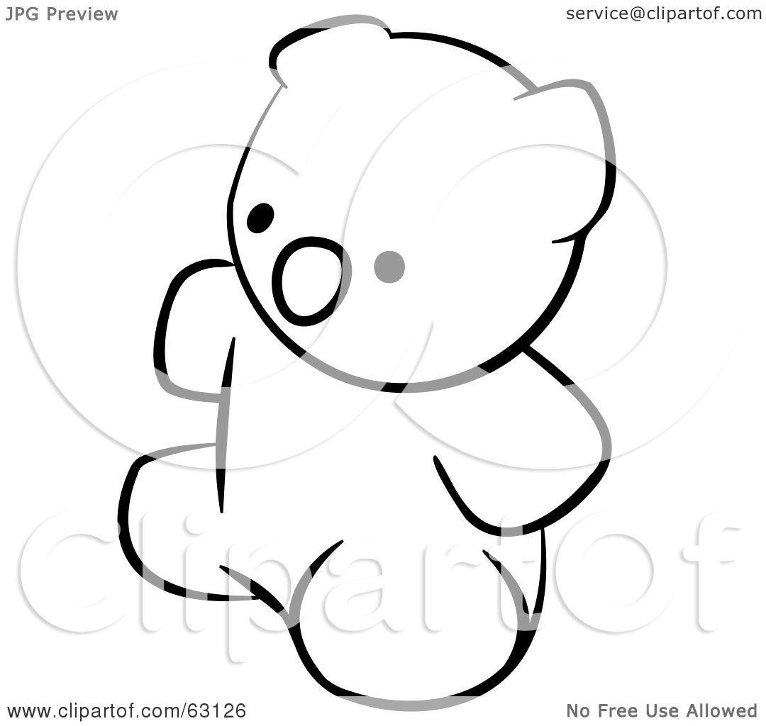 white teddy bear clip art - photo #49