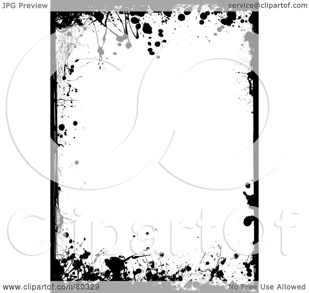 Black Snowflake Border Snowflake clipart black