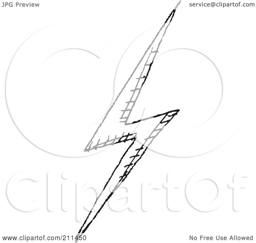 Lightning Bolt Clipart Black White And White Lightning Bolt