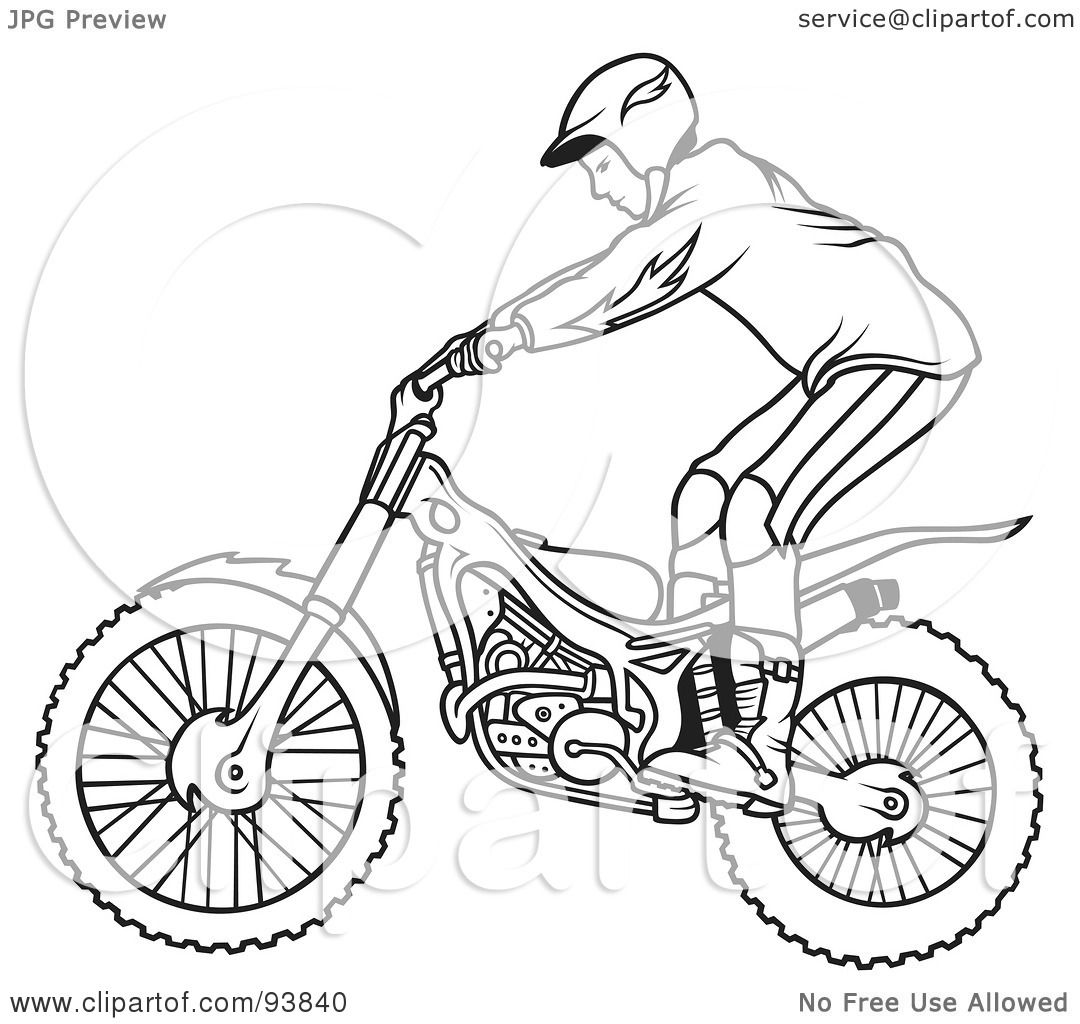 Royalty Free Rf Clipart Illustration Of A Black And White Outline
