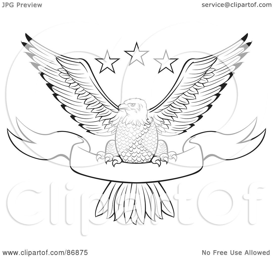 Royalty-Free (RF) Clipart Illustration of a Black And White Outlined ...