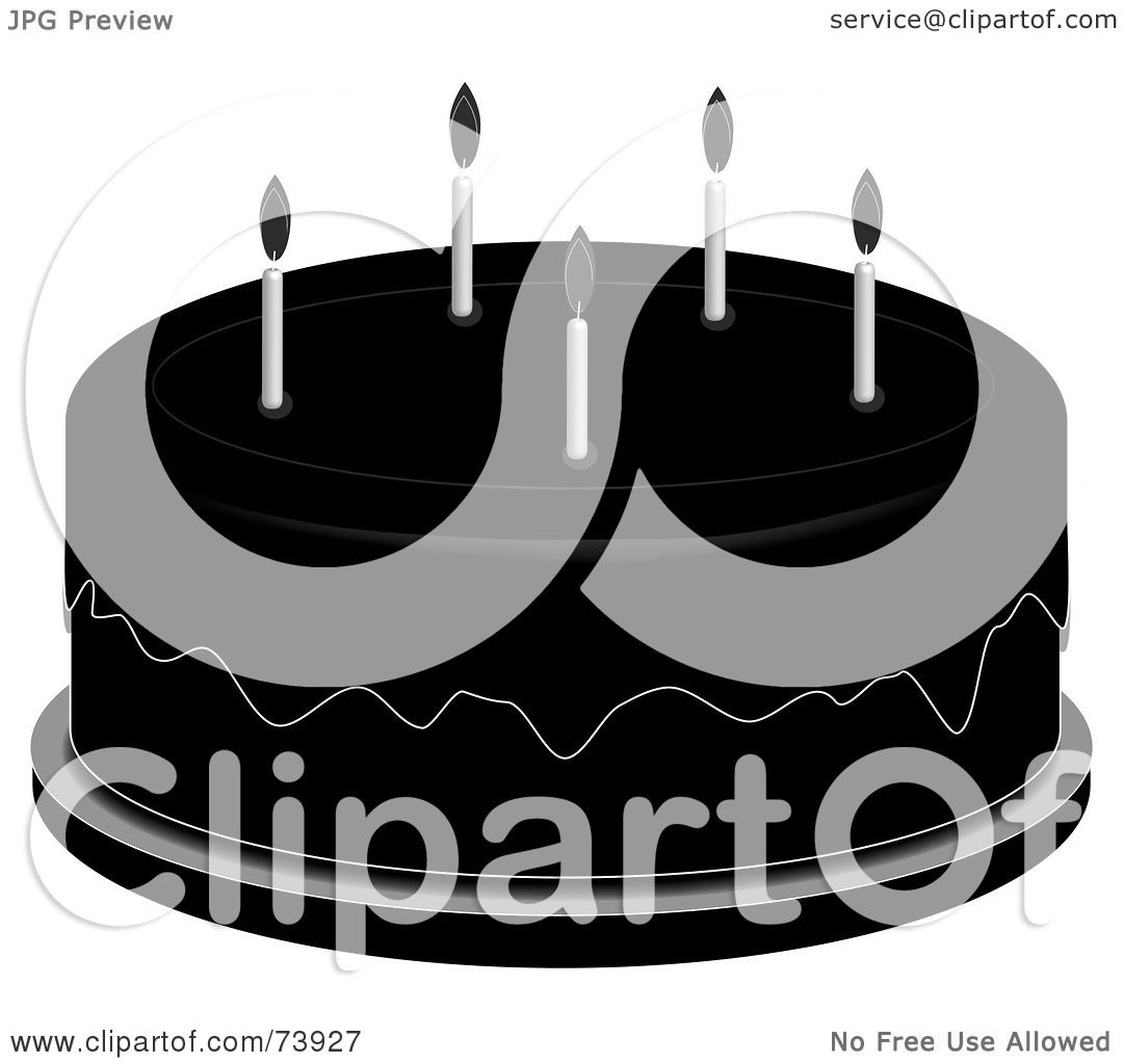 Royalty-Free (RF) Clipart Illustration of a Black And White Over ...