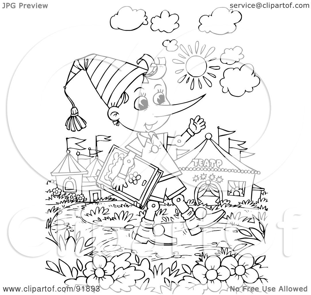 Royalty-Free (RF) Clipart Illustration of a Black And White ...