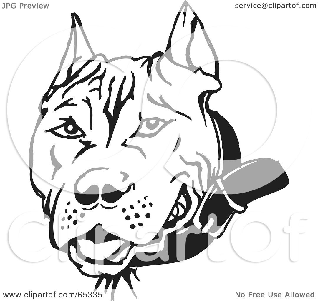 Royalty-Free (RF) Clipart Illustration of a Black And White Pit ...