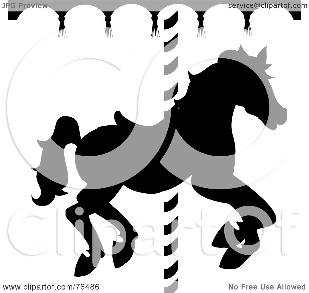 Carousel horse silhouette clip art - photo#23