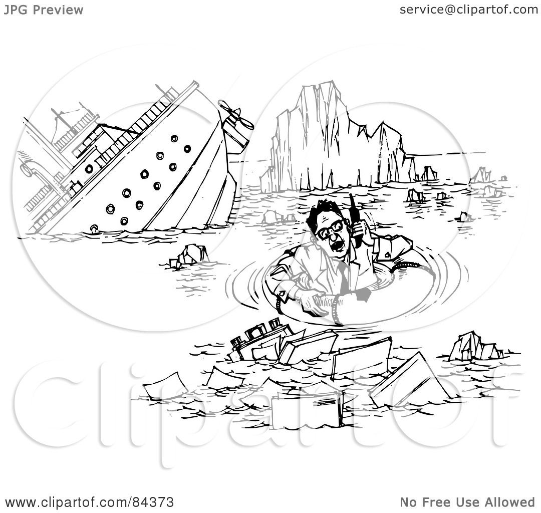 Royalty-Free (RF) Clipart Illustration of a Black And White Sketch ...