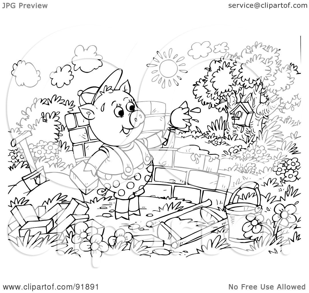Coloring Pages 3 Little Pigs Coloring Page 3 little pigs coloring pages eassume com to inspire in page cool