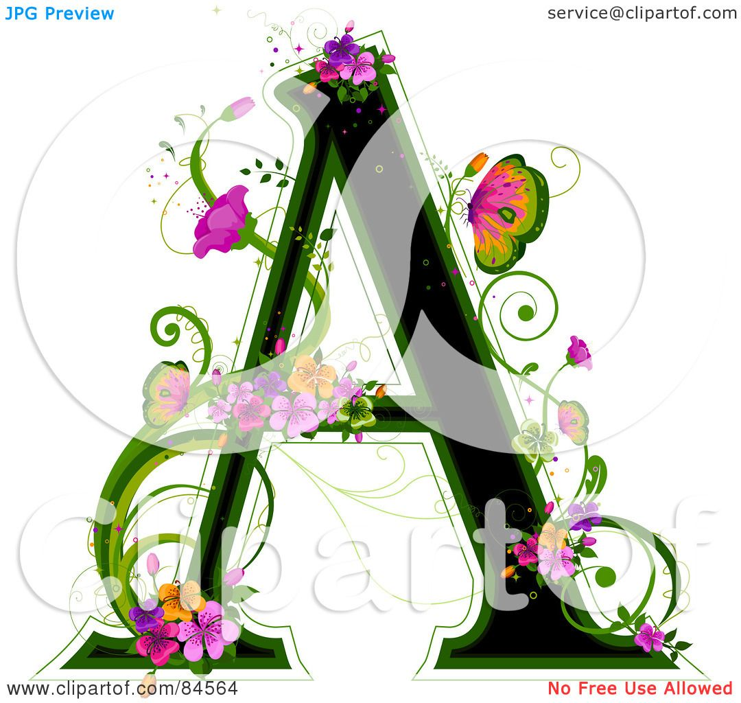 Royalty-Free (RF) Clipart Illustration Of A Black Capital