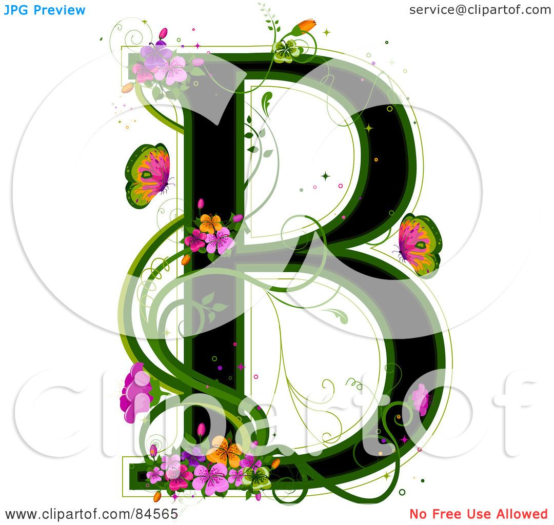 Royalty-Free (RF) Clipart Illustration of a Black Capital ...