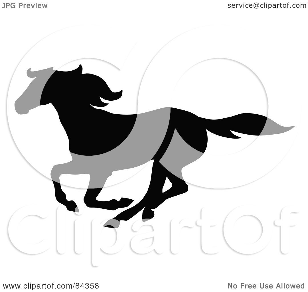 Galloping Horse Silhouette Galloping Horse Silhouette