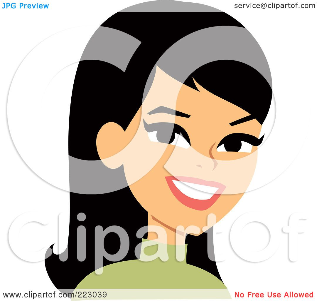 Royalty-Free (RF) Clipart Illustration of a Black Haired ...