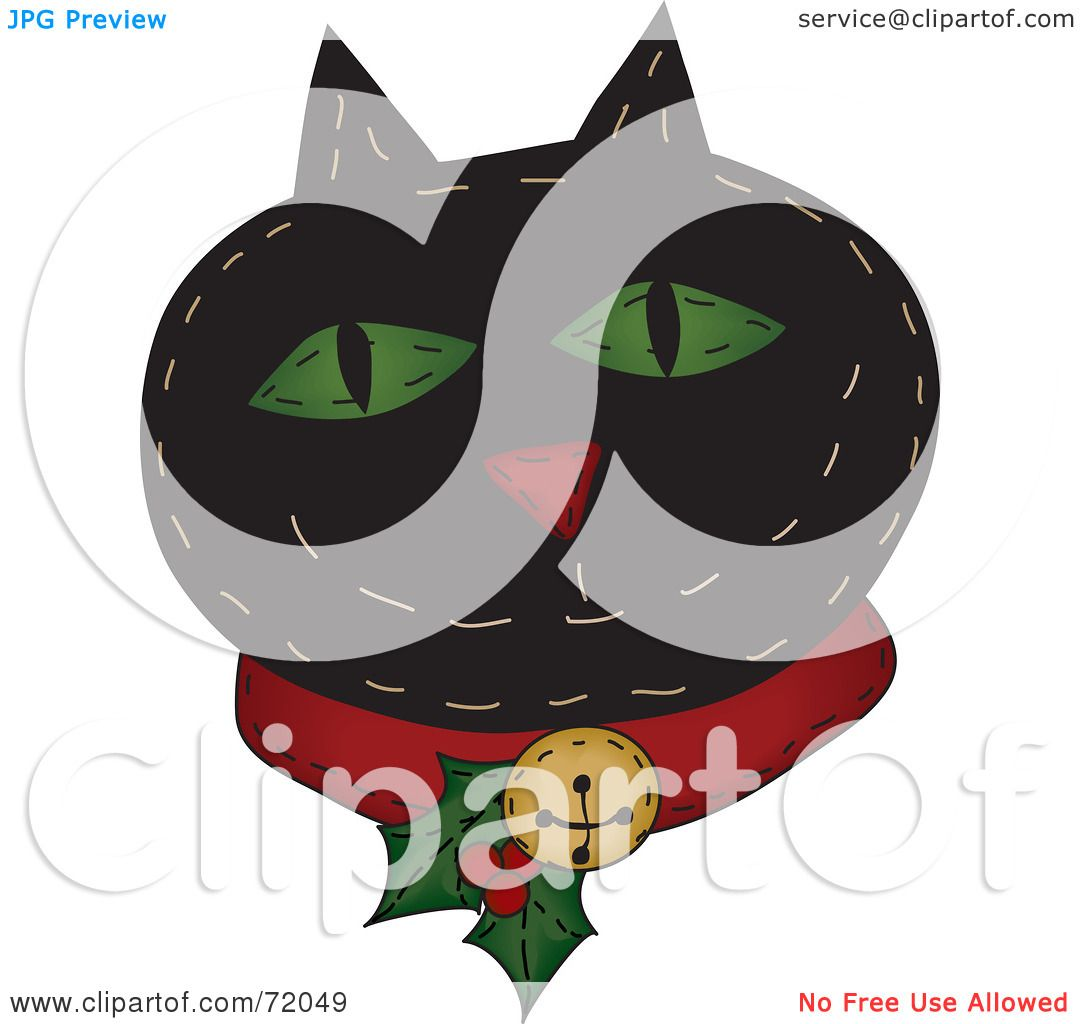 Royalty-Free (RF) Clipart Illustration of a Black Happy Christmas ...