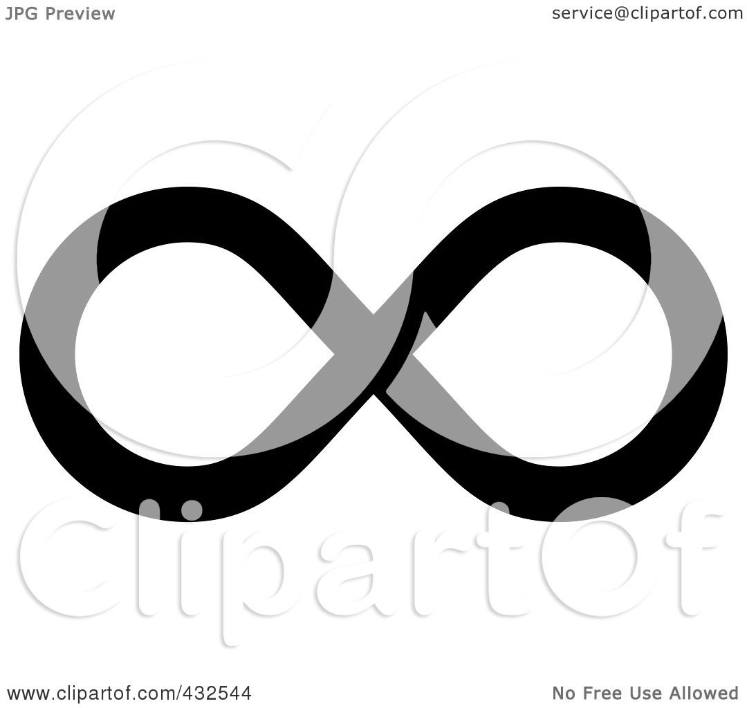 Royalty free rf clipart illustration of a black infinity for Infinity sign coloring pages