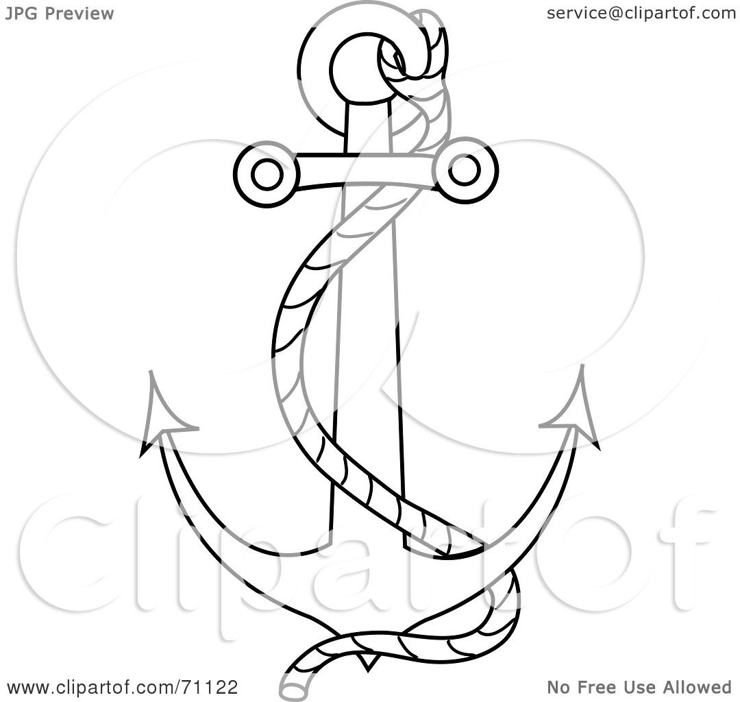 Anchor Heart Background