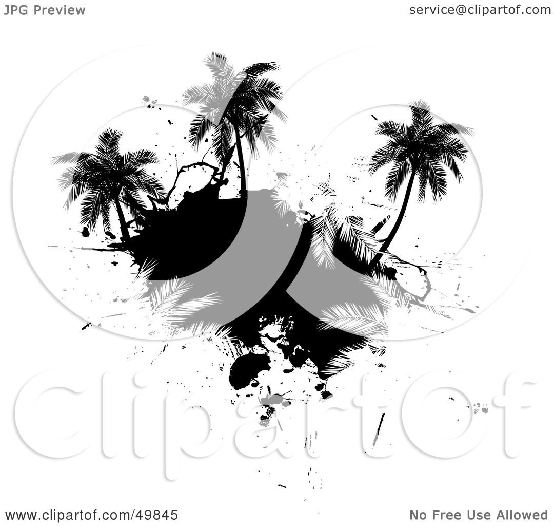 Palm Tree Island Silhouette Clip ArtIsland Silhouette Clip Art