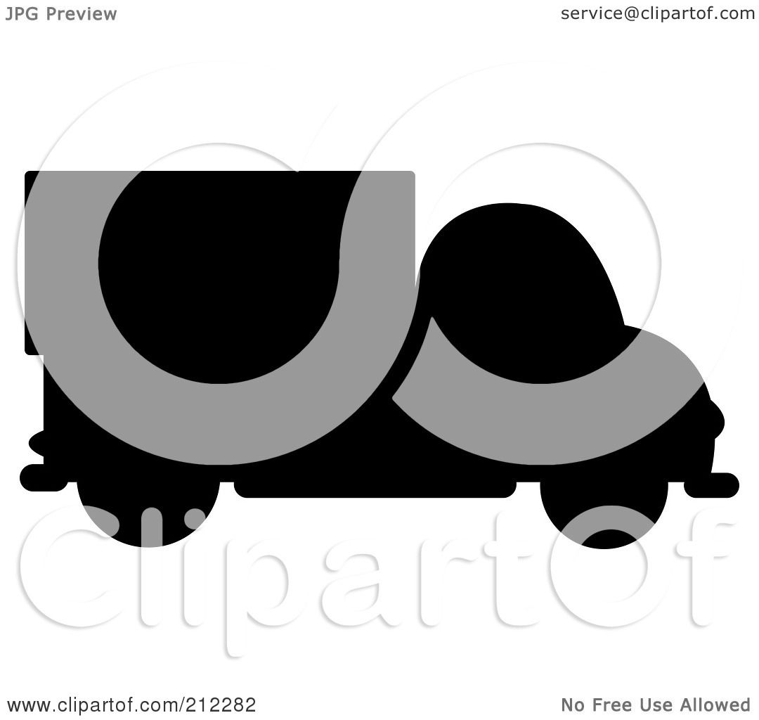 Green truck clipart royalty free rf pickup truck clipart - Royalty Free Rf Clipart Illustration Of A Black Silhouetted Delivery Truck In Profile By Pams Clipart