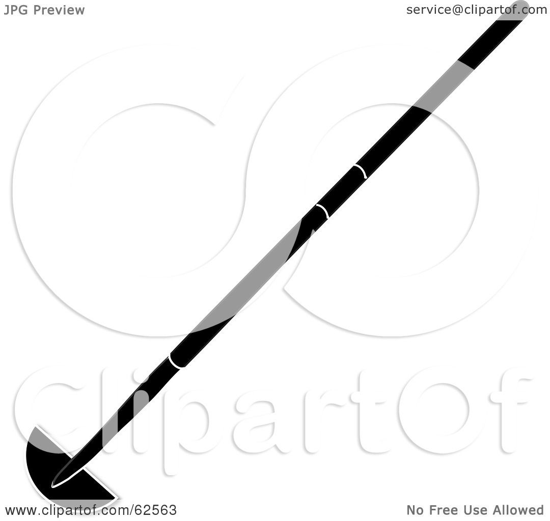 Royalty Free (RF) Clipart Illustration Of A Black Silhouetted Garden Edging  Tool By Pams Clipart