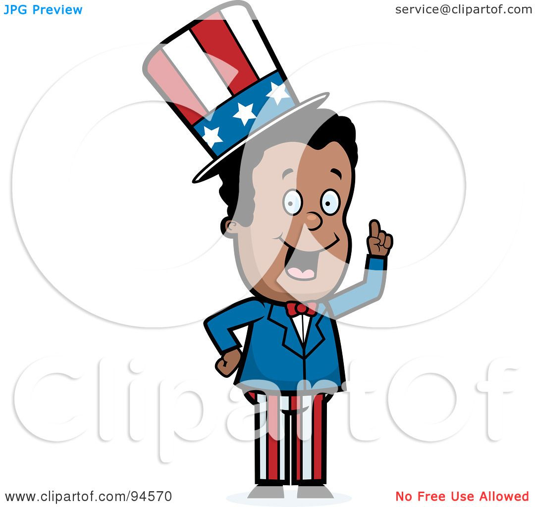 royalty free rf clipart illustration of a black uncle sam holding rh clipartof com free uncle sam clipart free clipart uncle sam pointing