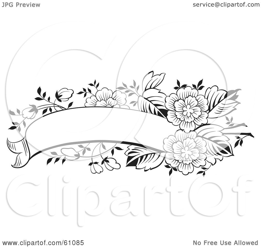 Royalty Free Rf Clipart Illustration Of A Blank Black And White