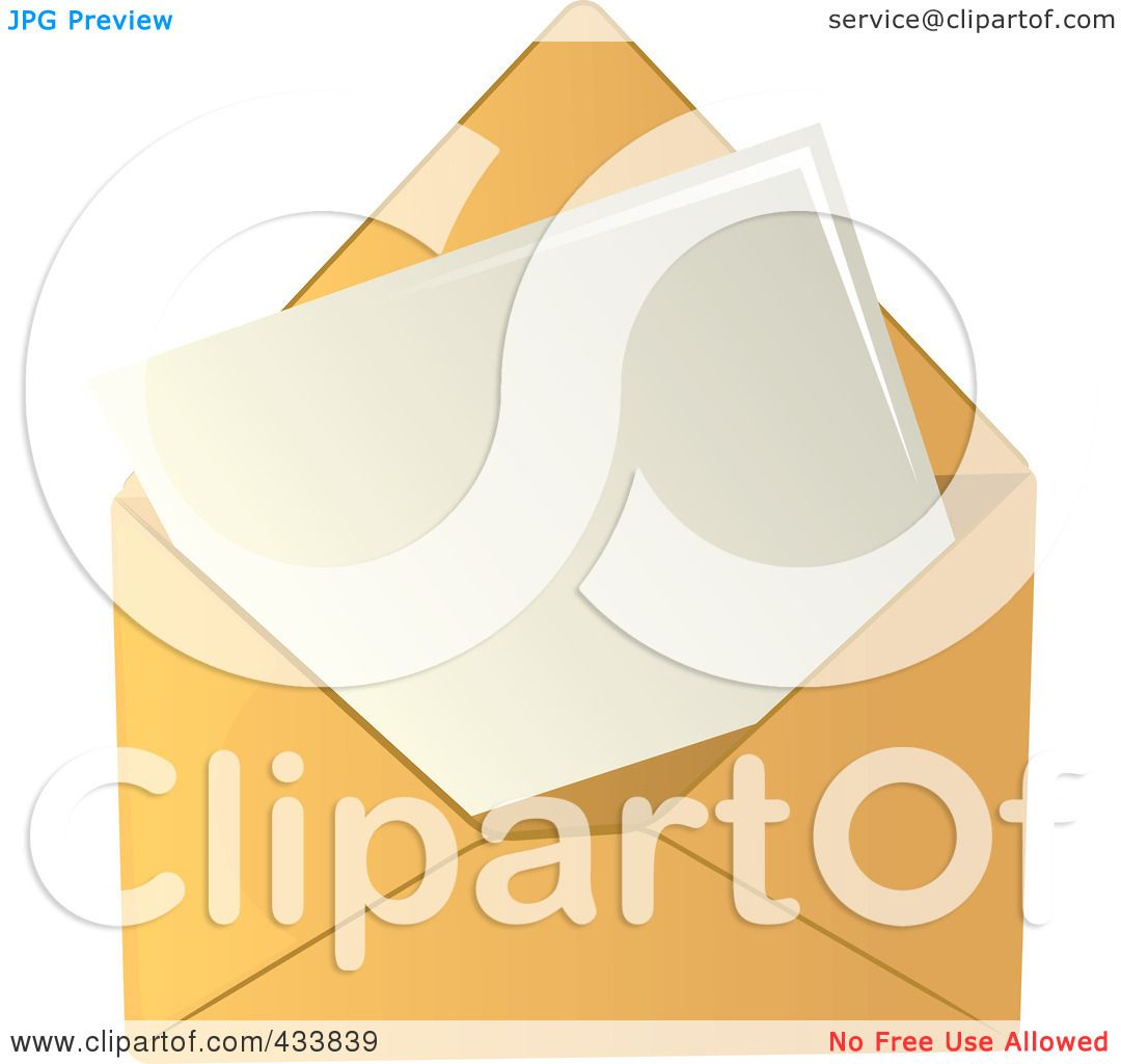 Blank letter clipart