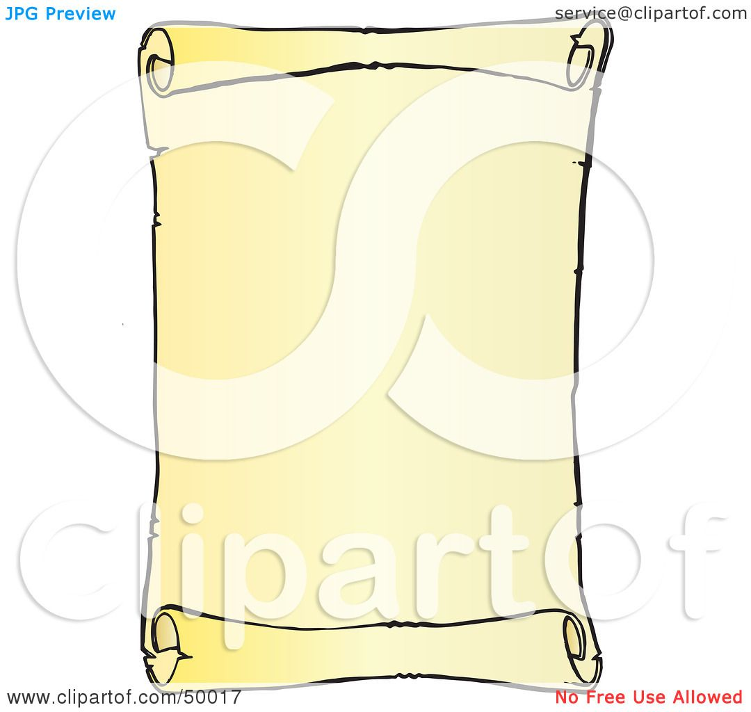 Royalty-Free (RF) Clipart Illustration of a Blank Vertical ...