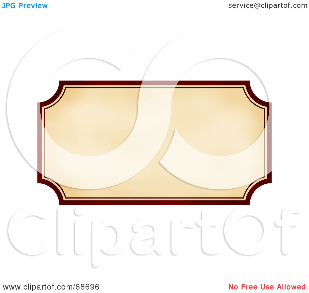 Royalty-Free (RF) Clipart Illustration of a Blank Vintage Label ...