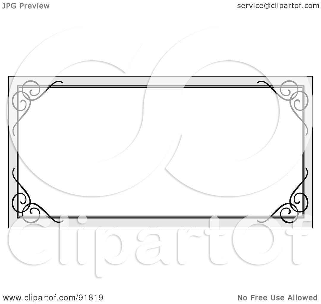 Royalty-Free (RF) Clipart Illustration of a Blank White ...  Royalty-Free (R...