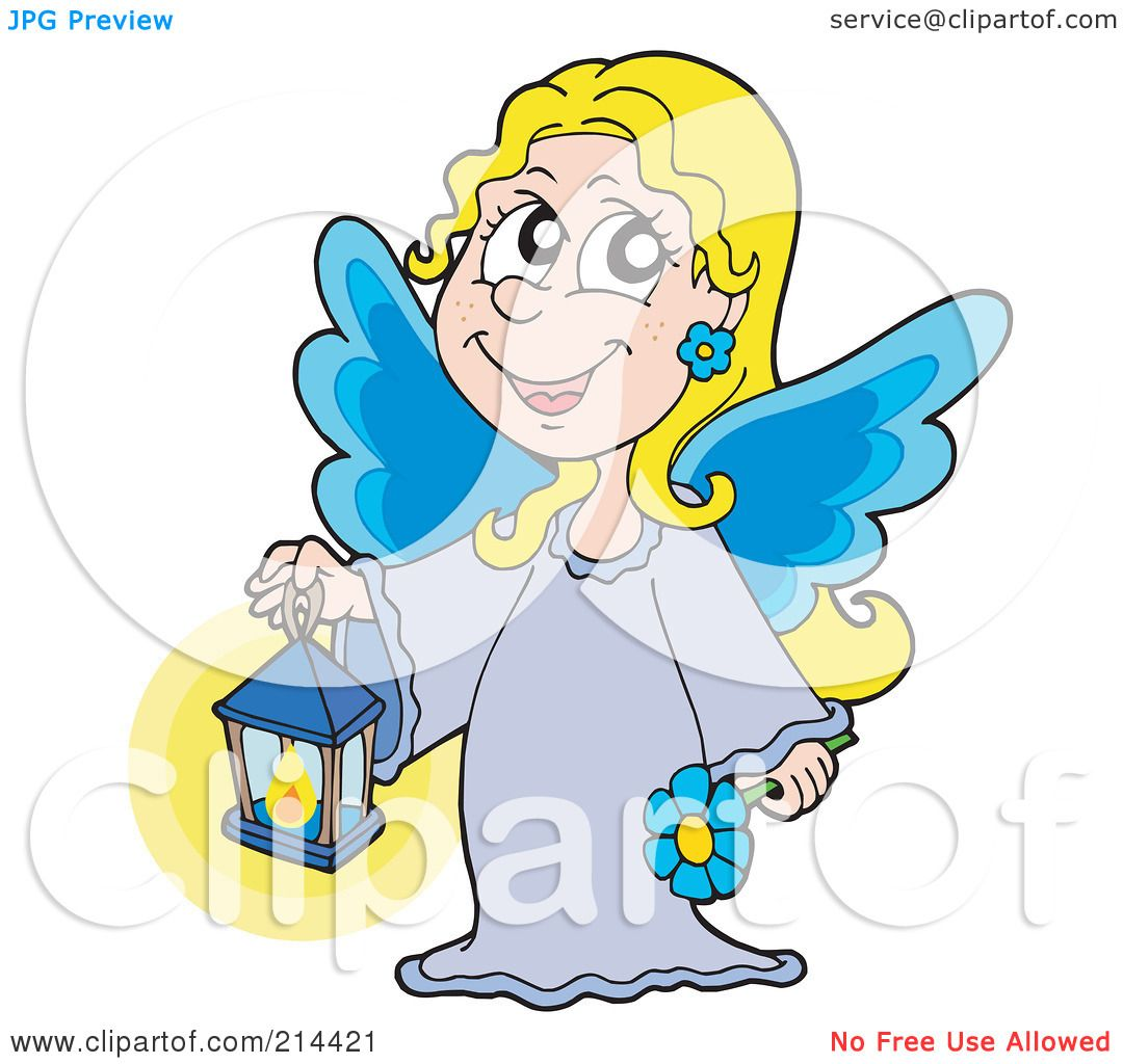 Blue Angel Wings Clip Art Royalty-free clipart picture