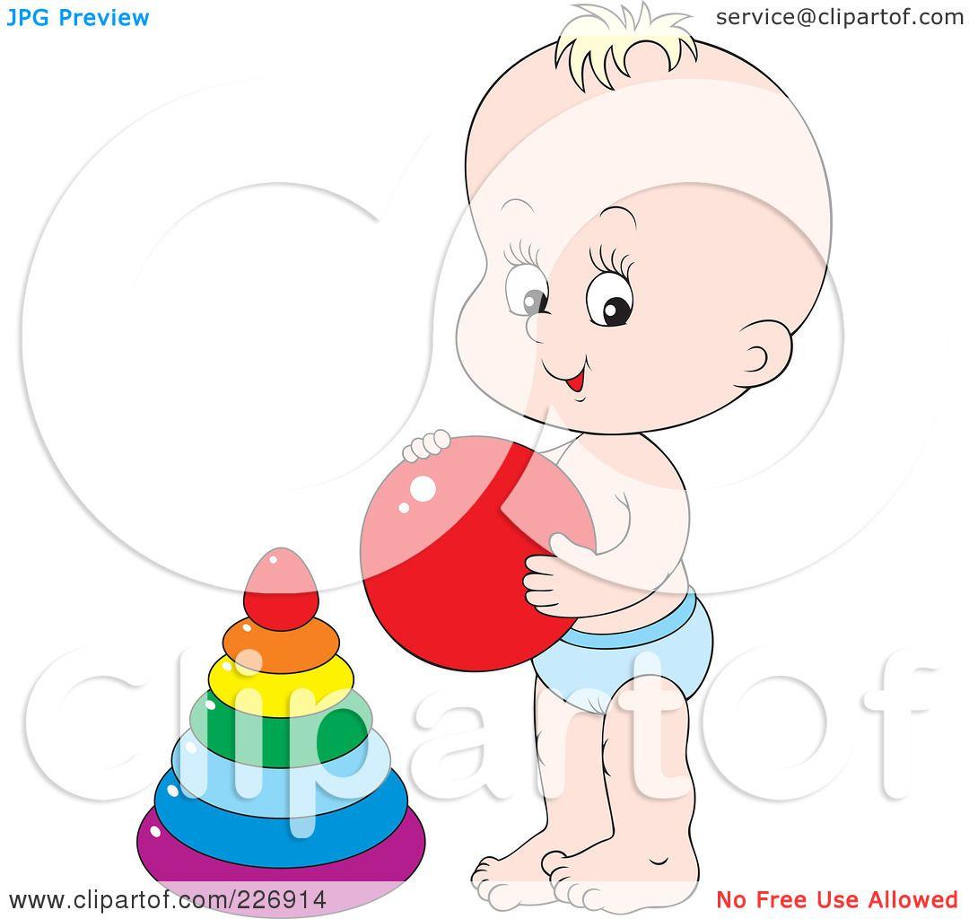 Vector Cute Baby Girl Crawling Stock Vector - Illustration