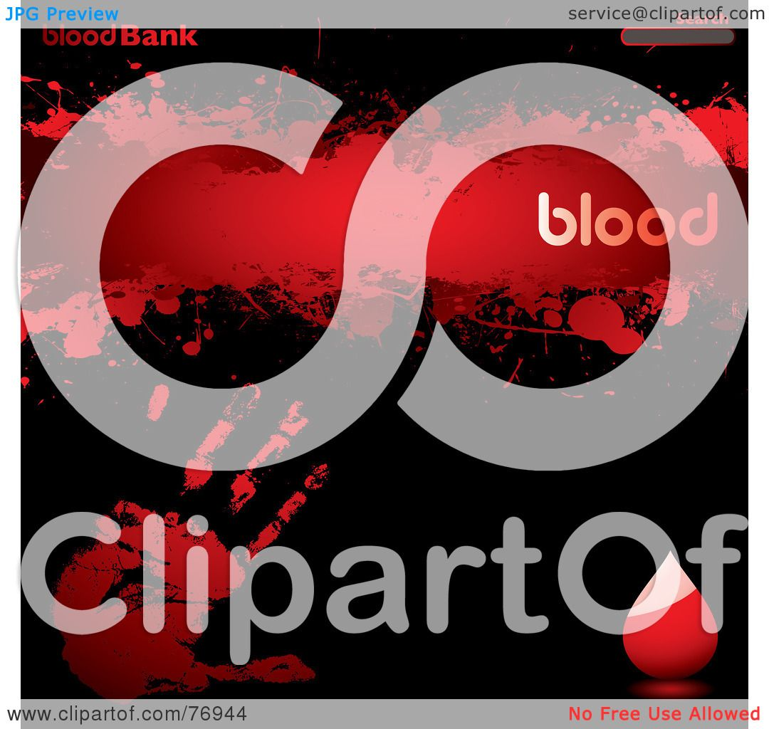Royalty Free Rf Clipart Illustration Of A Blood Bank