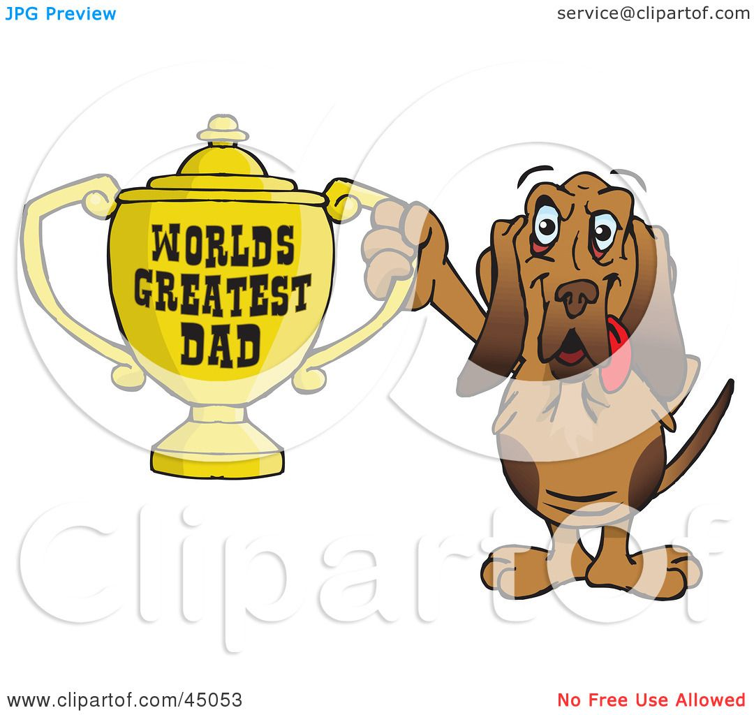 Royalty-free (RF) Clipart Illustration of a Bloodhound Dog ...