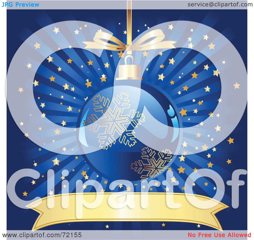 Shepherd Gold On Blue Silhouette Ornament: Royalty-Free (RF) Clipart Illustration Of A Blue And Gold