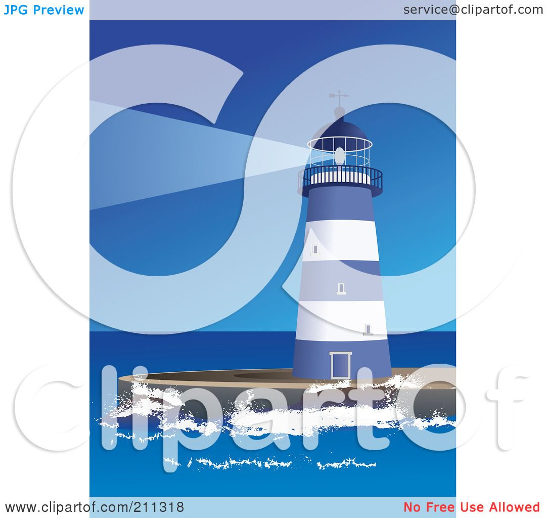 Royalty-Free (RF) Clipart Illustration of a Blue And White ...