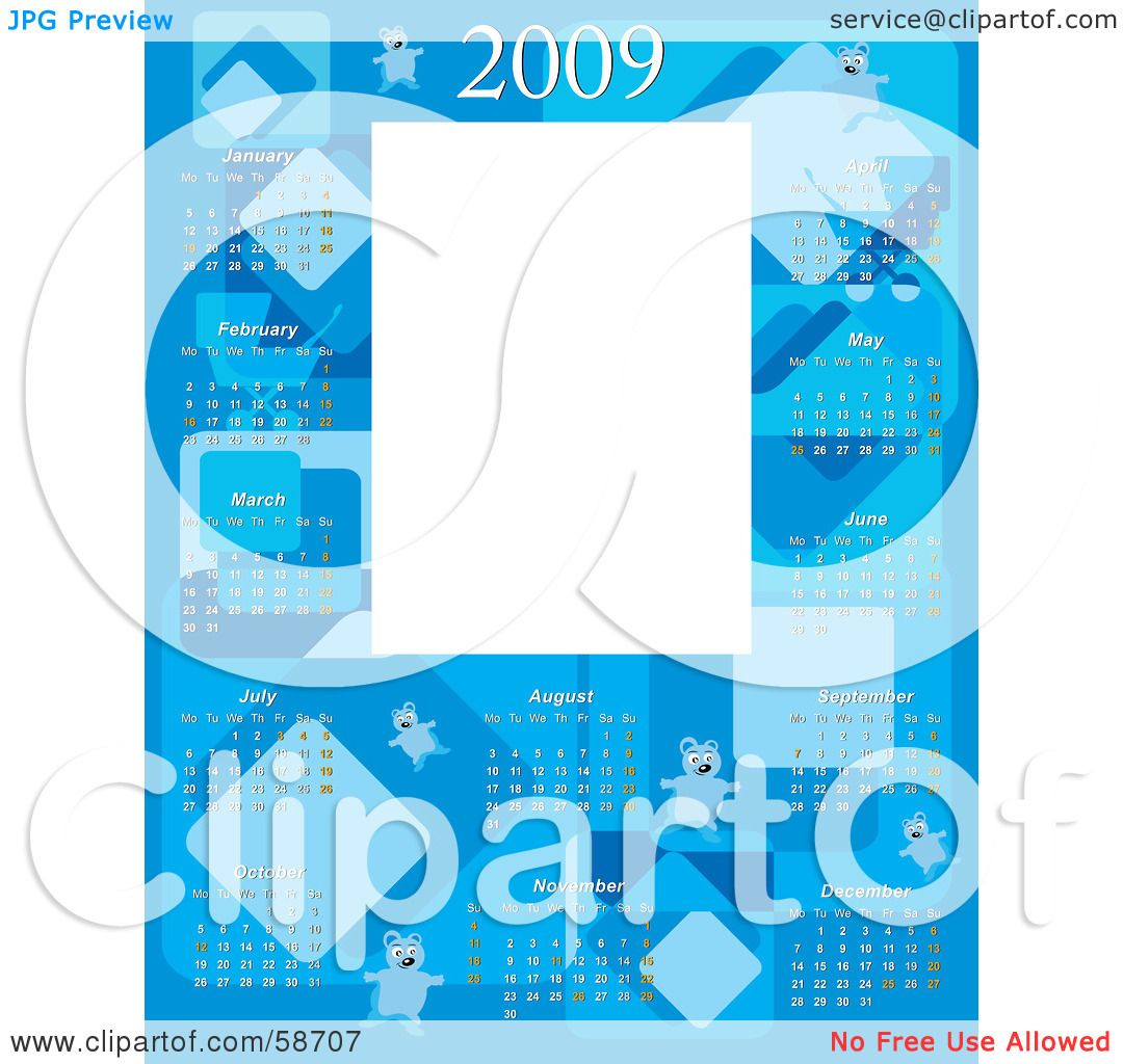 Royalty-Free (RF) Clipart Illustration of a Blue Baby Boy 2009 ...