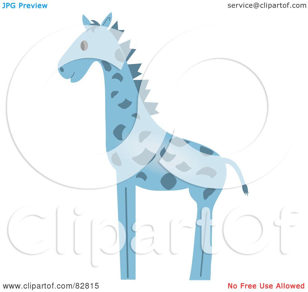 Baby Giraffe Clipart Blue of a Blue Baby Giraffe in