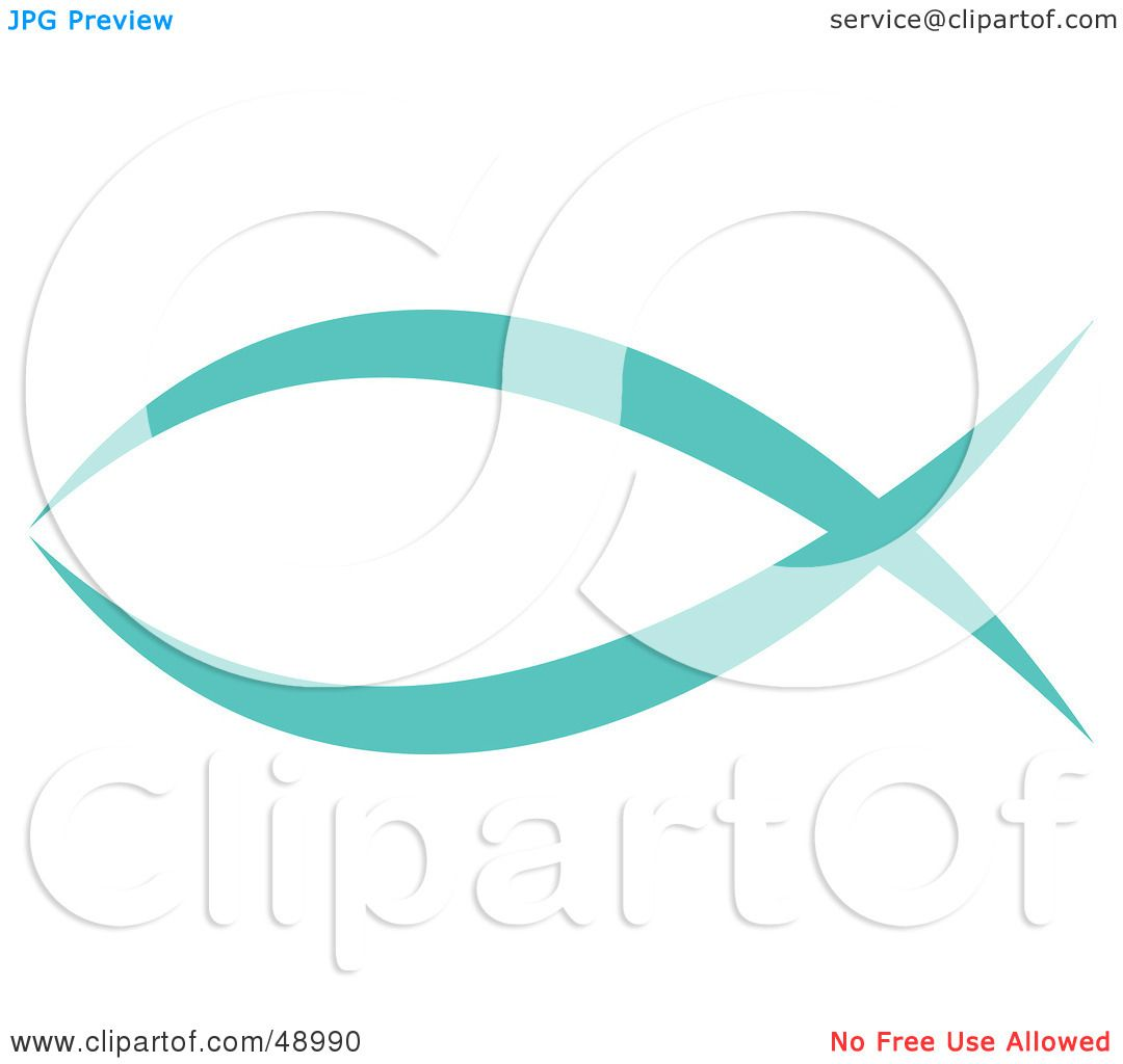 Royalty-Free (RF) Clipart Illustration of a Blue Christian Fish by ...